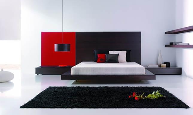 C mo combinar colores en el dise o de interiores - Decoracion blanco negro rojo ...